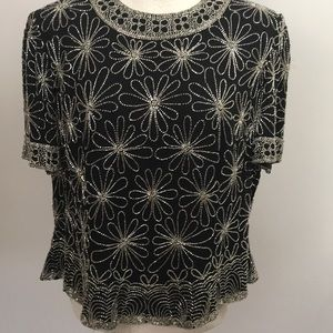 Papell Boutique Evening beaded top Size 1X